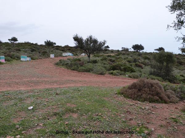 Zw. Gythion-Sparta auf der Höhe der drei Inselchen
